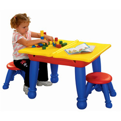 Crayola Multi Purpose Learning Tables And Chairs Children Multi-functional His Desk Double Easel Double-Sided hua ban zhuo 5018