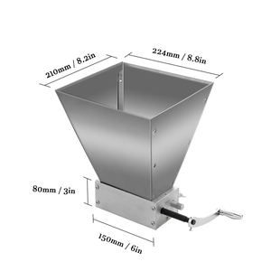 Image 2 - Whole Grains Mill Grinder Food Processors Superfine Large Manual Powder Machine Stainless Steel Malt Corn Food Grinder Manual
