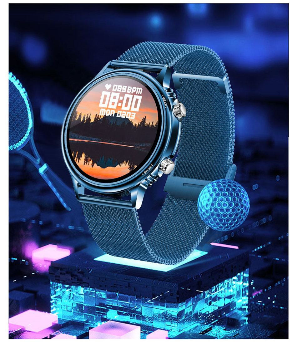 H680e9e9510294cf49b07c6c7b7af9d42W LIGE New Smart Watch Men Custom Dial Full Touch Screen Waterproof Smartwatch For Android IOS Sports Smart watch Fitness Tracker