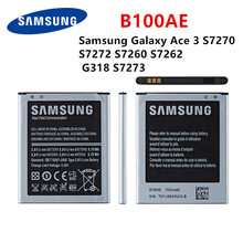 цены Orginal B100AE 1500mAh  battery For Samsung Galaxy Ace 3 S7270 S7272 S7260 S7262 G318 S7273 Mobile Phone Battery