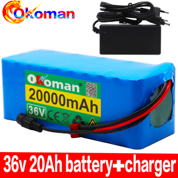 36V 10S4P 20Ah 500W high power battery 42V 20000mAh 18650 lithium battery pack Ebike electric bicycle bicycle with BMS + charger