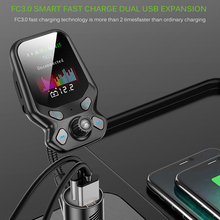 MP3 Player Fast Charging 3.0 USB Charger LCD Bluetooth FM Transmitter Handsfree Automobile