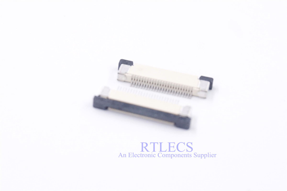 10pcs FFC FPC Connector 0.50 Mm 4 5 6 8 9 10 12 14 16 20 22 24 26 28 30 32 34 36 40 50 54 60 Pin Top Contact Right Angle SMD
