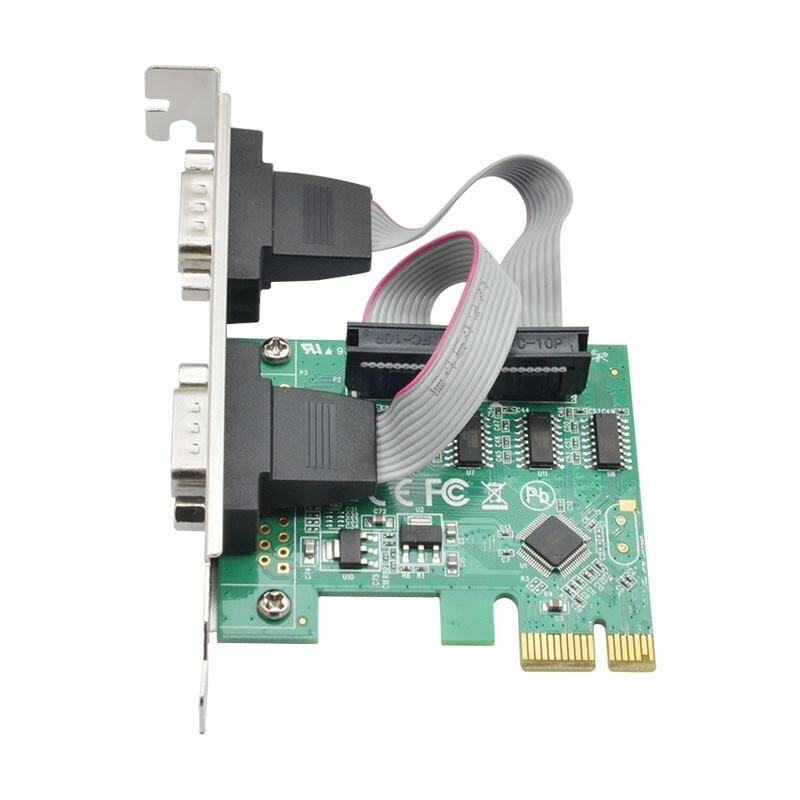 pci-e card RS232 COM port dual serial PCI-E to 9-pin PCI expansion