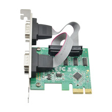 цена на pci-e card RS232 COM port dual serial port card PCI-E to RS232 9-pin serial port card PCI to serial port expansion card PCI-E