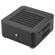 L80S Computer Cases Aluminum Chassis Desktop Mainframe with Usb 3.0 Port Hollow for Game Chassis Diy Mini Pc Itx Case Black