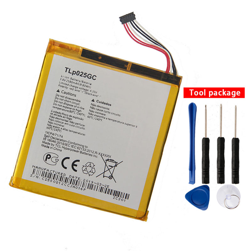 Original High Quality TLP025GC phone Battery For Alcatel One Touch Pixi 4 7.0 3G 9003X 9003A 2580mAh image