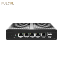 Mini PC Fanless pFsense Firewall Router Celeron J1800 J1900 Dual Core Windows 10 4 Gigabit LAN COM RJ45 VGA Industrie computer