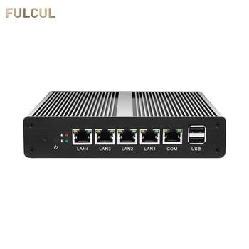 Mini PC Fanless pFsense Firewall Router Celeron J1800 J1900 Dual Core Windows 10 4 Gigabit LAN COM RJ45 VGA Industrial Computer 1u j1900 firewall router pfsense router server firewall server with j1900 2 0ghz 4 82583v 1000mbps lans 4 lan