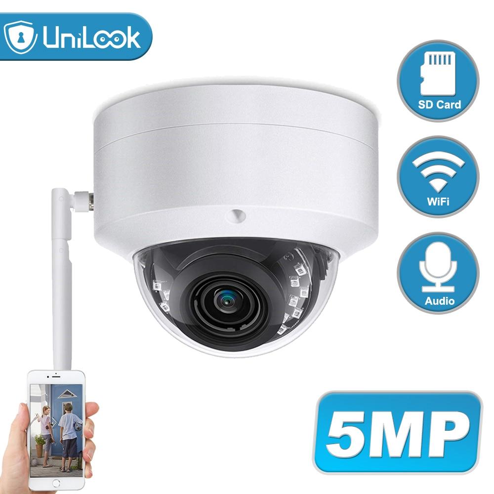 Unilook 5MP Wifi IP Camera Outdoor Wireless Onvif CCTV Security Camera TF Card Slot APP CamHi Audio IP65