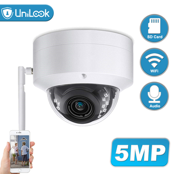 Unilook 5MP Wifi IP Camera Outdoor Wireless Onvif CCTV Security Camera TF Card Slot APP CamHi Audio IP65