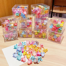 36PCS/Set Box Packed Girls Cute Colorful Cartoon Flower Small Hair Claws Kids Lovely Hair Clip Headband Fashion Hair Accessories