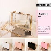 Shoulder Purse Clutch-Bag Top-Quality Luxury Handbag Clear Designer Chain Small Cross-Bodi