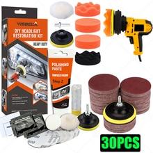 Headlights Restoration Kit Car Headlight Polisher Restorer Polishing  Chemical Polishing Paste Kit Auto Headlamps Wax Sanding