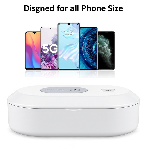 UV Disinfection Box UV Phone Sanitizer Charger Prevent Flu For Mobile PhoneHeadphones Mask Jewelry Sterilizer Kill 99.9% Virus 3