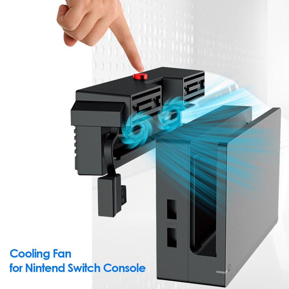 Вентилятор охлаждения для Nintendo Switch, 5000 об/мин, 2 вентилятора, Внешнее питание от USB