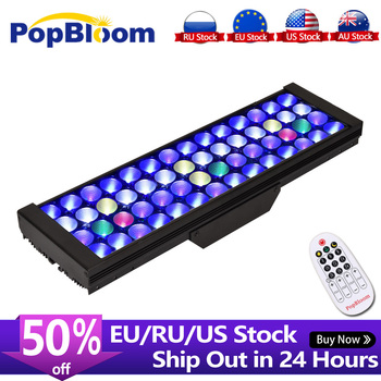 PopBloom aquarium lighting lamp led aquarium marine lamp reef aquarium reef tank fish tank led light sea aquarium remote control фото
