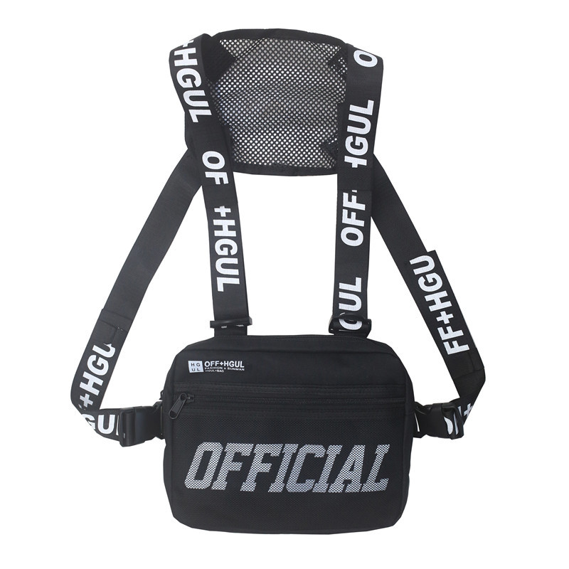 Hip Hop Vest Tactical Crossbody Streetwear Chest Bag  Men Waist Packs For Women 2019 Travel Punck Chest Rig Vest Waist Bag