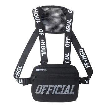 Hip Hop Vest Tactical Crossbody Streetwear Chest Bag  Men Waist Packs For Women 2019 Travel Punck Chest Rig Vest Waist Bag