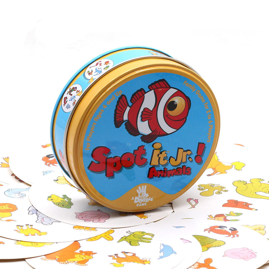 2020 High Quality Spot Card Game With Metal Box Enjoy It For Family Gathering As Best Gift For Kids Dobble It Board Game