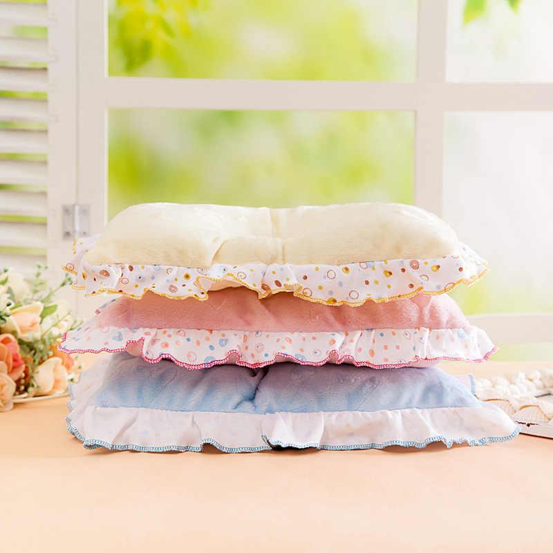 1PC พิมพ์ผ้าฝ้ายนุ่มตำแหน่งหมอนเด็กทารกน่ารักการ์ตูนทารกแรกเกิด Anti FLAT HEAD Sleep Lace หมอน