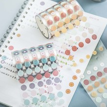 New Arrival Cute Dots Tape Round Stickers Dot Stickers For Diy Decorative Diary Planner Scrapbooking Photo Ablums