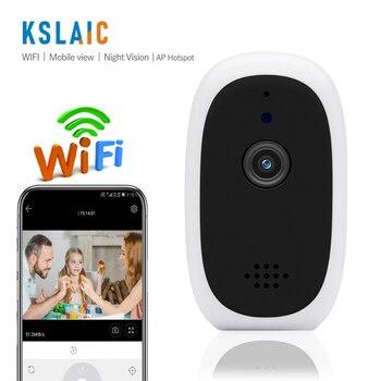 KSLAIC Wireless Mini IP Camera Wifi P2P Small CCTV Night Vision Two-Way Audio Baby Monitor 720p Home Security Pet Camera