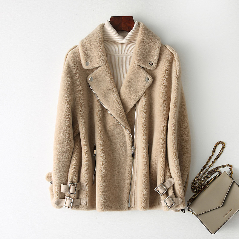 Fur Real Coat Autumn Winter Jacket Women Clothes 2020 Sheep Shearling Real Wool Coat Female Jacket Manteau Femme TLR1946