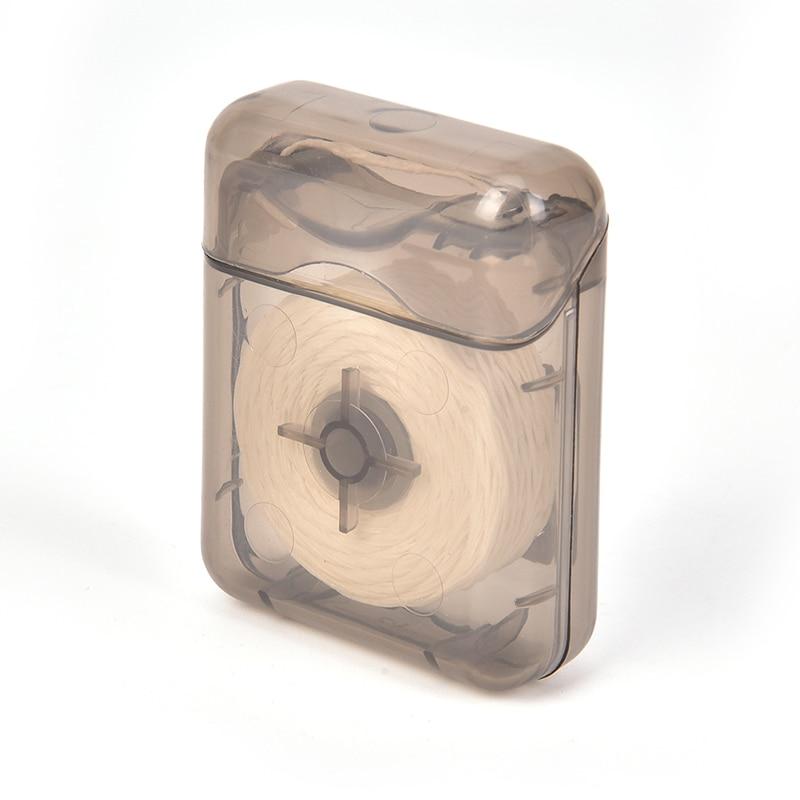 1 шт. 50 м портативная зубная нить с Чехол зубная нить для гигиены полости рта чистка зубов воск мятный ароматизированный зубная нить