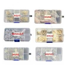 Oblea de bloqueo de Accesorios de reparación para coche, placa de bloqueo de lengüeta para FO21 TOY43 HY22 HU92 HU100 HU66 HON66 para Honda para BMW y Toyota