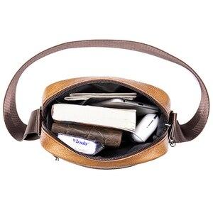Image 4 - VICUNA POLO bolso de hombro de piel auténtica para hombre, Estilo Vintage bandolera, informal, promocional
