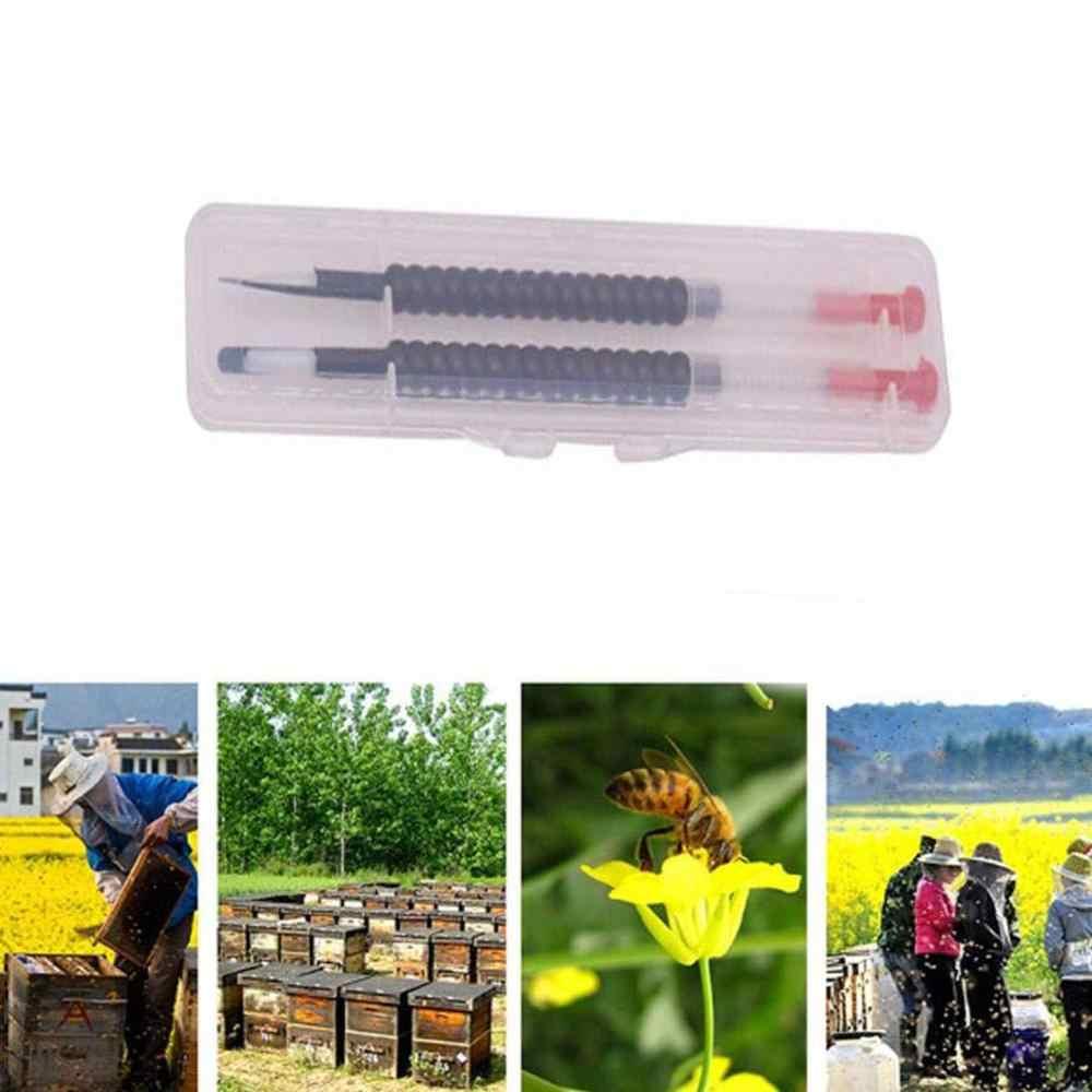 2 יח'\קופסא גידול דבורים השתלת כלי דבורת מלכת זחלי נשלף להעביר מחט כוורן כוורת גידול האכלה גידול דבורים גידול
