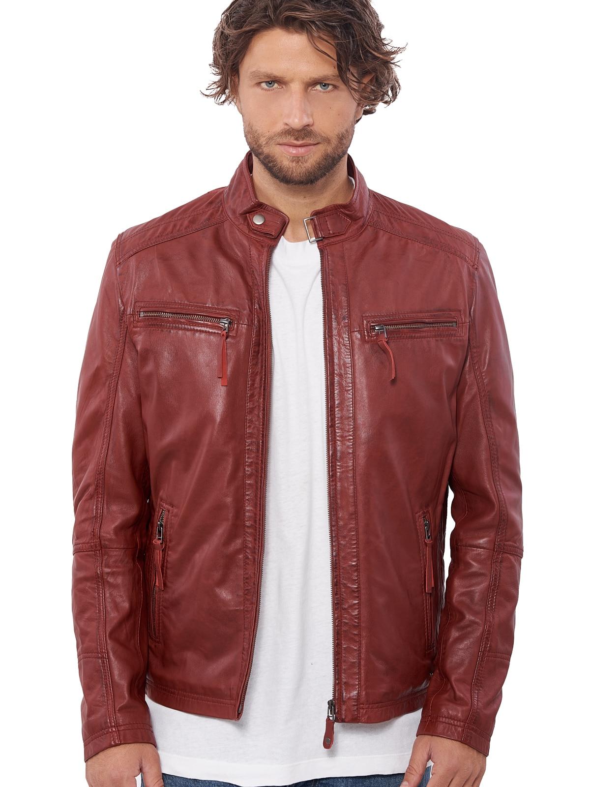 H68109fa20b7449e4a62f7f1995c484178 VAINAS European Brand Mens Genuine Leather jacket for men Winter Real sheep leather jacket Motorcycle jackets Biker jackets Alfa