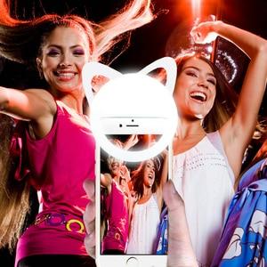 Image 2 - Selfie flash luz luminosa lâmpada telefone anel 36 led para iphone para samsung para xiaomi smartphone recarregável selfie luz