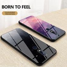 Caso de vidro temperado para nokia 9 pureview 8 sirocco 7 8.1 7.1 6.1 4.2 3.1 1 plus x71 x7 x6 luxo capa de telefone silicone