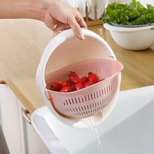 Кухонная сливная корзина, миска для мытья риса, дуршлаг, корзина для кухни, ситечко для лапши, овощей, фруктов, двойная сливная корзина для хранения