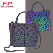 Luminous Bucket Bag Women Handbag Messenger Bag Luxury Geome
