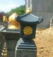 Molde de hormigón ABS con forma de casa, para jardinería, balcón, Pagoda, cemento, 36cm/14.17in, estilo clásico, fácil construcción, duradero