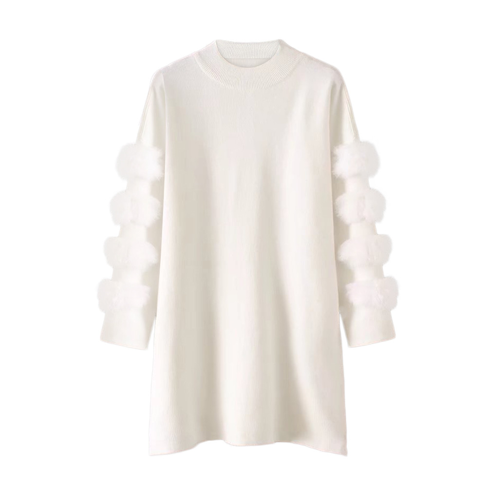 Women's Sweater Loose Jumper Warm Autumn Winter Casual Fashion Long-Sleeved New Solid