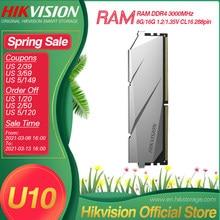 Hikvision Hikstorage RAM DDR4 8G 16G 3000MHz 1.2/1.35V CL16 288pin pamięć biurkowa wysoka prędkość niskie zużycie energii Intel AMD