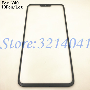 """10Pcs/Lot Original Black 6.5"""" For LG V40 Front Glass Touch Screen LCD Outer Panel Top Lens Cover Repair Replacement Part"""