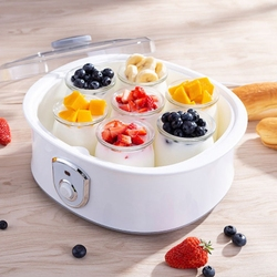 Top Sale Electric Yogurt Maker with 7 Cups 1.5L Automatic Universal Stainless Steel Liner Natto Rice Wine Yogurt Machine EU Plug