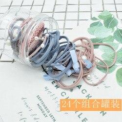 Corée du sud en boîte cheveux élastiques bandes de cheveux 24 pièces costume chapeaux mode femmes baril tête fabricants