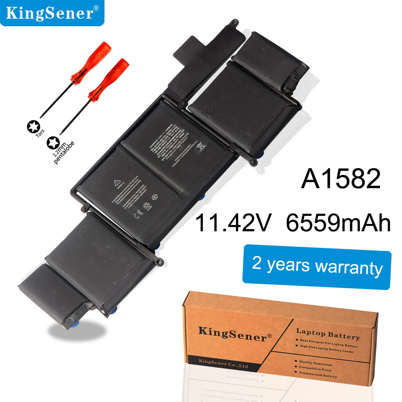 KingSener Laptop Battery A1582 for Apple MacBook Pro 13 Retina A1502 2015 year With Tools ME865 ME864 020-00010 11.42V 6559mAh image