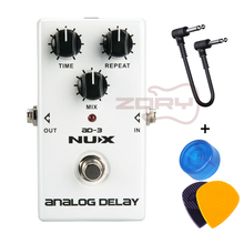 цена на NUX AD-3 Guitar Effects Pedal Analog Delay Effect Low Noise BBD Delay Circuit 20-300ms Delay time Warm and Smooth With Free Gift