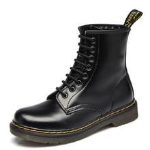 Botas de cuero para mujer, Vintage, Retro, cálidas, zapatos de senderismo para mujer, botas casuales de fondo plano, botines para mujer, botas de Invierno para mujer