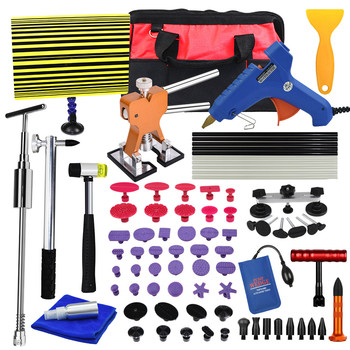 PDR Tools Kit Car Remove Dent Paintless Dent Repair Tool Car Dent Remover Reverse Hammer Straightening Pulling Dents Instruments car dents repair removal garage tools induction heating auto bodywork dent and ding repair remove diy kit straightening dents
