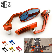 Buy Motorcycle 22mm Universal CNC Aluminum Oval Handlebar Bar End Rear View Side Mirrors for KTM DUKE RC390 250 200 125 Accessories directly from merchant!