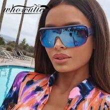 Oversized Goggles Shield Sunglasses Men Women Brand Design 2