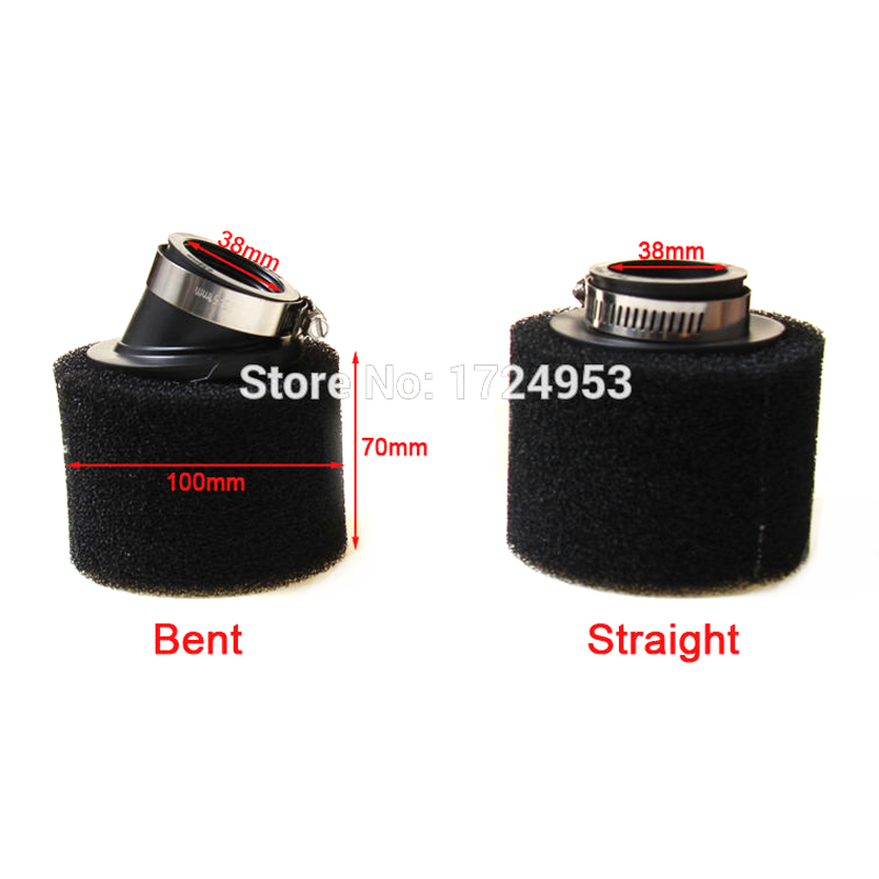<font><b>38MM</b></font> Sponge Air <font><b>Filter</b></font> Cleaner SSR Coolster Thumpstar Xtreme SDG UPC 50 70 90CC Pit Dirt Bike Motorcycle free shipping image
